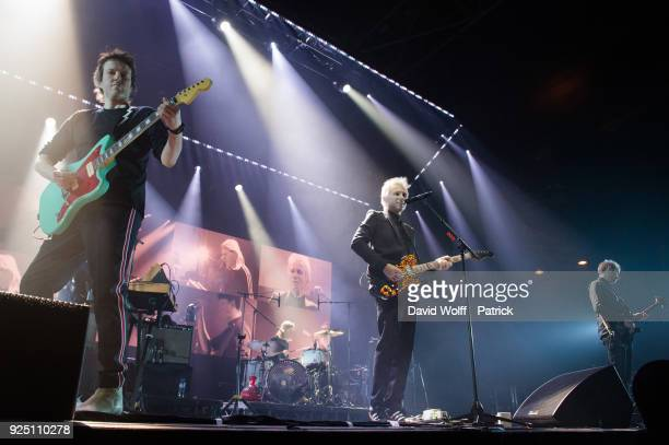 Alex Kapranos from Franz Ferdinand performs at Le Zenith on February 27 2018 in Paris France