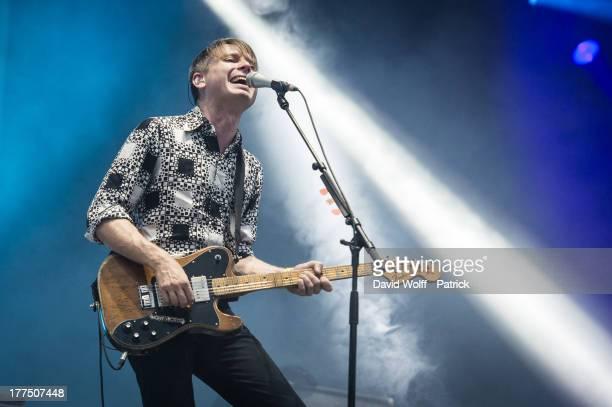 Alex Kapranos from Franz Ferdinand performs at Rock en Seine on August 23 2013 in SaintCloud France