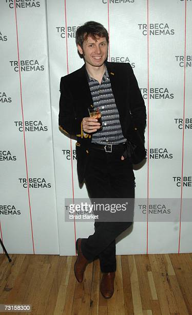 "Alex Kapranos, lead singer of Franz Ferdinand, attends the Tribeca Cinema Series presents ""Sound Bites"" by Alex Kapranos at Tribeca Cinemas Gallery..."