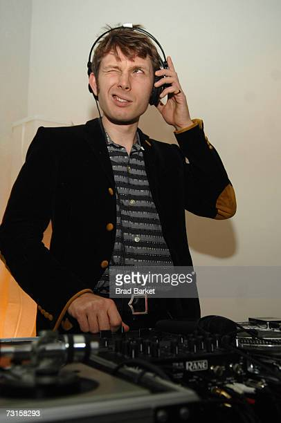 "Alex Kapranos, lead singer of Franz Ferdinand, spins records at the Tribeca Cinema Series presents ""Sound Bites"" by Alex Kapranos at Tribeca Cinemas..."