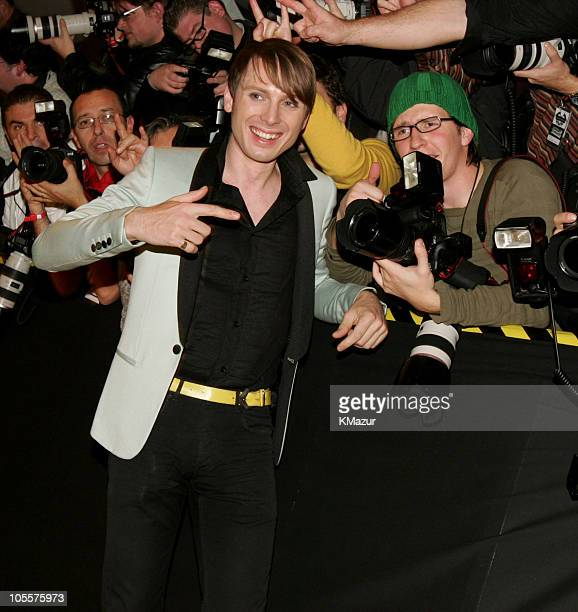 Alex Kapranos of Franz Ferdinand during 2004 MTV European Music Awards Red Carpet at Tor di Valle in Rome Italy