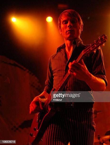 Alex Kapranos of Franz Ferdinand during 2006 Coachella Valley Music and Arts Festival Day One at Empire Polo Fields in Indio California United States