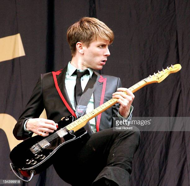 Alex Kapranos of Franz Ferdinand during 'Carling Weekend' Leeds Festival 2004 Day 3 at The Mean Fiddler in Leeds England Great Britain