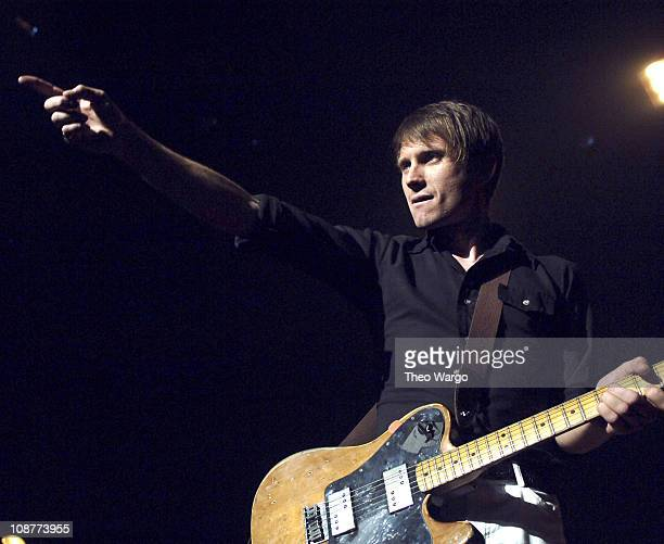 Alex Kapranos of Franz Ferdinand during Franz Ferdinand in Concert at the Hammerstein Ballroom in New York City April 13 2006 at Hammerstein Ballroom...