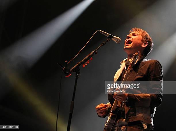 Alex Kapranos of Franz Ferdinand performs at day two of Best Kept Secret Festival at Beekse Bergen on June 21 2014 in Hilvarenbeek Netherlands