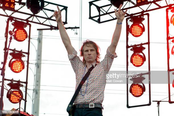 Alex Kapranos of Franz Ferdinand performs at the Katz's Stage during 2017 Hangout Music Festival on May 21 2017 in Gulf Shores Alabama