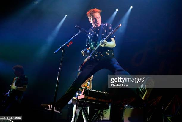 Alex Kapranos of Franz Ferdinand performs at The Roundhouse on September 26 2018 in London England
