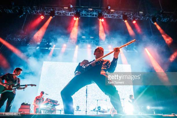 Alex Kapranos of Franz Ferdinand performs in concert during the Festival Internacional de Benicassim on July 21, 2019 in Benicassim, Spain.