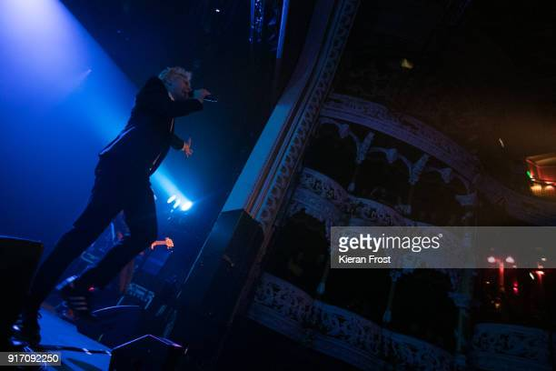 Alex Kapranos of Franz Ferdinand performs live at the Olympia Theatre on February 11 2018 in Dublin Ireland