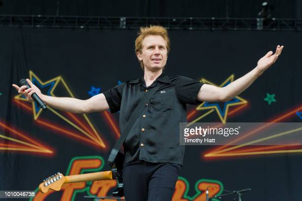 Alex Kapranos of Franz Ferdinand performs on day one of Lollapalooza at Grant Park on August 2 2018 in Chicago Illinois