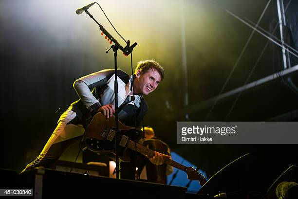 Alex Kapranos of Franz Ferdinand performs on stage at Best Kept Secret Festival on June 21 2014 in Hilvarenbeek Netherlands