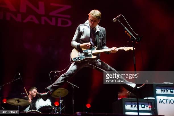 Alex Kapranos of Franz Ferdinand performs on stage at Best Kept Secret Festival on June 21 2014 in Hilvarenbeek Netherlands