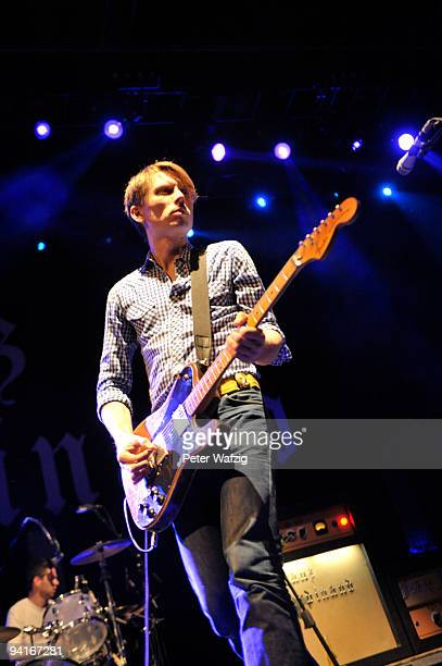 Alex Kapranos of Franz Ferdinand performs on stage at the Philipshalle on November 26 2009 in Duesseldorf Germany