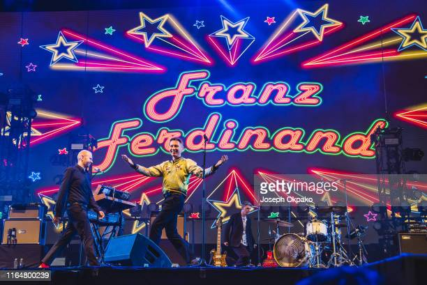 Alex Kapranos of Franz Ferdinand performs on stage during Day 1 of Fusion Festival 2019 on August 30 2019 in Liverpool England