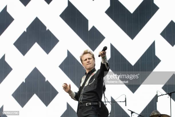Alex Kapranos of Franz Ferdinand performs on stage during TRNSMT Festival Day 5 at Glasgow Green on July 8 2018 in Glasgow Scotland