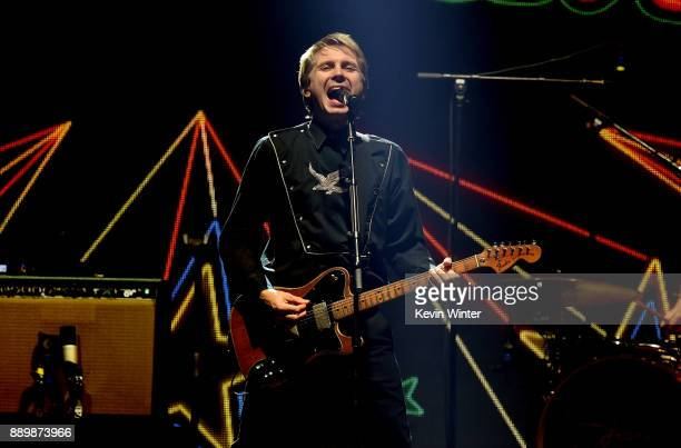 Alex Kapranos of Franz Ferdinand performs onstage during KROQ Almost Acoustic Christmas 2017 at The Forum on December 10 2017 in Inglewood California