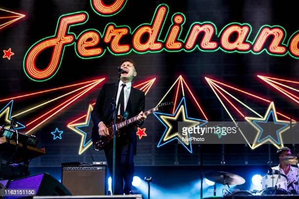 Alex Kapranos of The English indie rock band Franz Ferdinand performing live at Lowlands Festival 2019 on 18 August 2019 in Biddinghuizen Netherlands