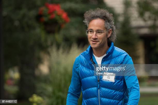 Alex Karp chief executive officer of Palantir Technologies attends the fourth day of the annual Allen Company Sun Valley Conference July 14 2017 in...