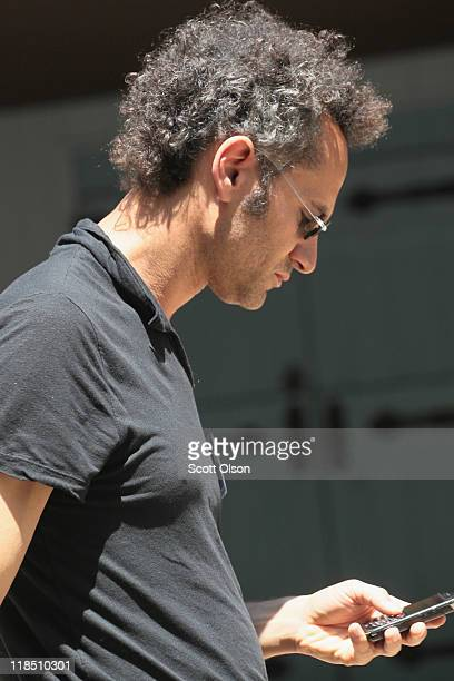 Alex Karp cofounder and Chief Executive Officer of Palantir Technologies attends the Allen Company Sun Valley Conference on July 8 2011 in Sun Valley...