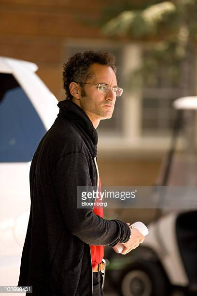 Alex Karp cofounder and chief executive officer of Palantir Technologies Inc arrives at the Allen Co Media and Technology Conference in Sun Valley...