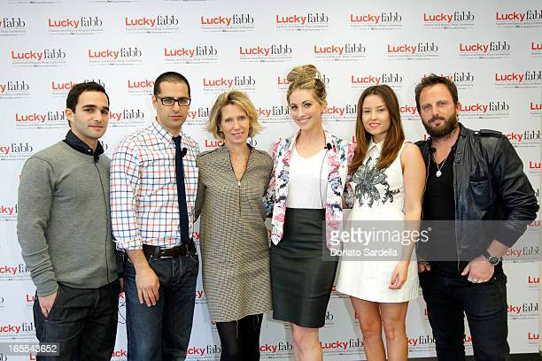 Alex Kassan Raman Kia Brandon Holley Emily Schuman Gerri Hirsch and Marc Harpster attend the firstever Lucky Magazine two day FABB West at SLS Hotel...