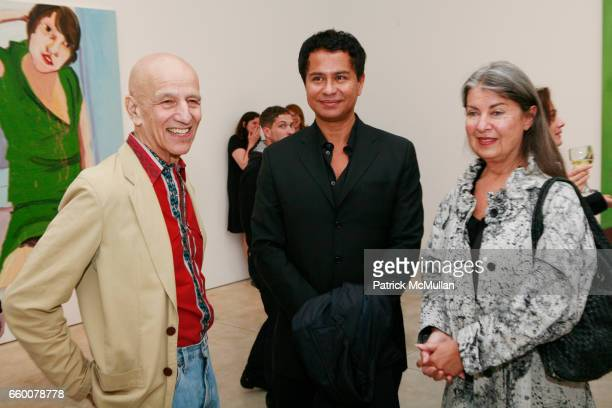 Alex Katz Glenn Scott Wright and Victoria Miro attend Opening Reception for CHANTAL JOFFE RECENT WORKS at Cheim and Read on May 7 2009 in New York...