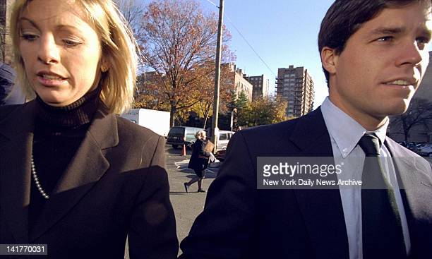 Alex Kelly trial in Stamford CT Alex Kelly and his girlfriend Amy Molitor enter courthouse