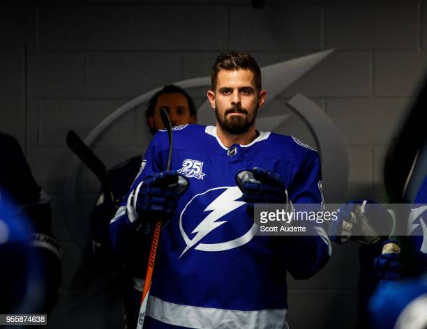 Alex Killorn of the Tampa Bay Lightning against the Boston Bruins during Game Five of the Eastern Conference Second Round during the 2018 NHL Stanley...