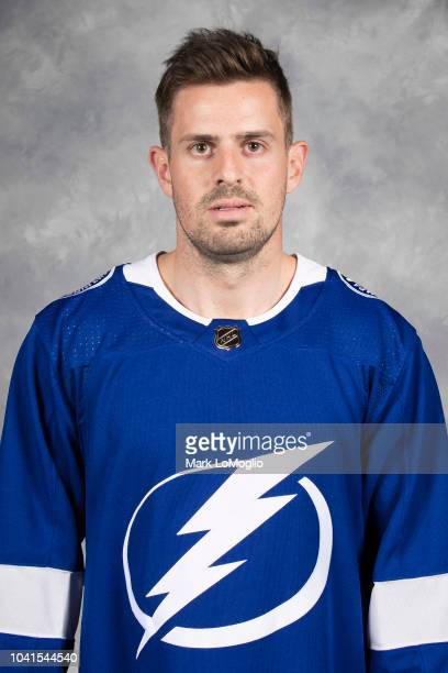 Alex Killorn of the Tampa Bay Lightning poses for his official headshot for the 20182019 season on September 13 2018 at Amalie Arena in Tampa Florida