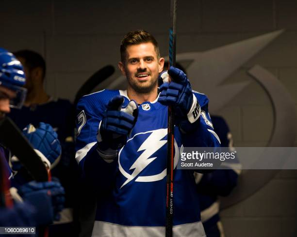 Alex Killorn The Tampa Bay Lightning gets ready for the game against the Ottawa Senators at Amalie Arena on November 10 2018 in Tampa Florida