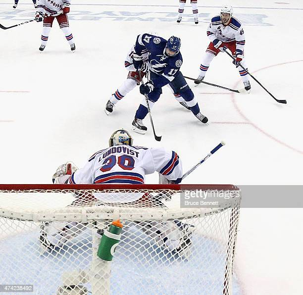 Alex Killorn the Tampa Bay Lightning skates against the New York Rangers in Game Three of the Eastern Conference Finals during the 2015 NHL Stanley...