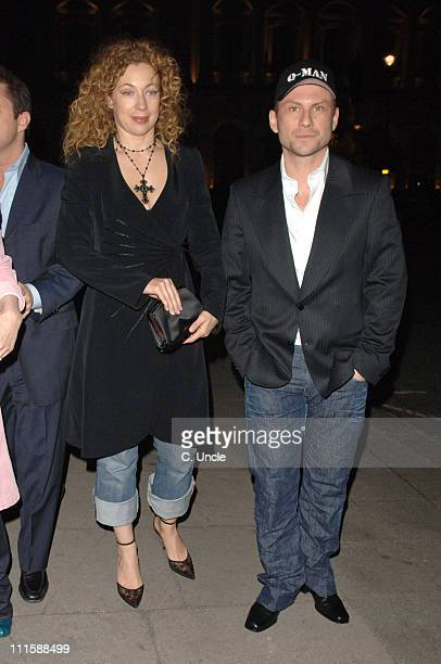 Alex Kingston and Christian Slater during 'Basic Instinct II Risk Addiction' London Premiere After Party at Waterloo Place in London Great Britain