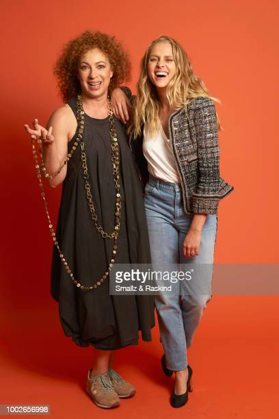 Alex Kingston and Teresa Palmer from Sky One's 'A Discovery of Witches' pose for a portrait in the Getty Images Portrait Studio powered by Pizza Hut...