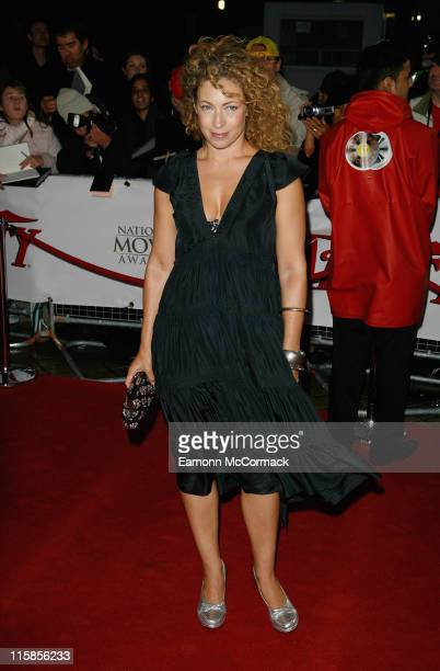 Alex Kingston attends the National Movie Awards held at the Royal Festival Hall on September 28 2007 in London
