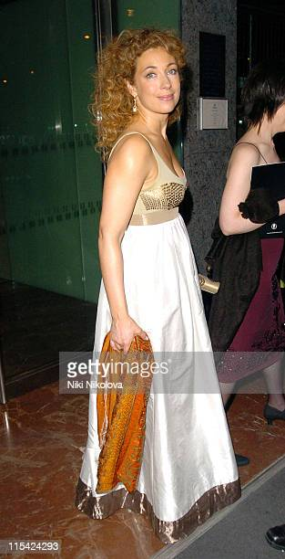 Alex Kingston during 2006 Laurence Olivier Awards Departures at Hilton Hotel in London Great Britain