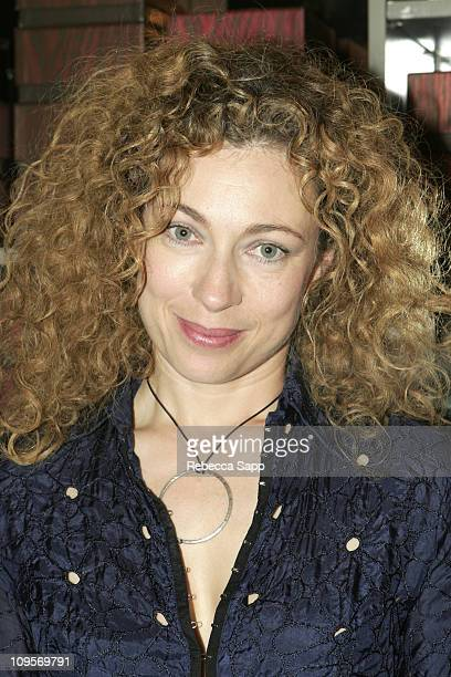 Alex Kingston during Alan Cumming Launches His New Fragrance Cumming at Fred Segal in Santa Monica California United States