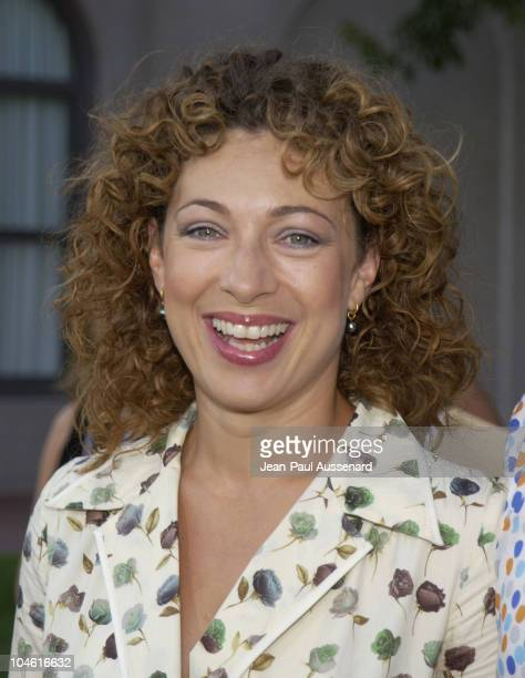 Alex Kingston during NBC Summer 2002 AllStar Party at Ritz Carlton Hotel in Pasadena California United States