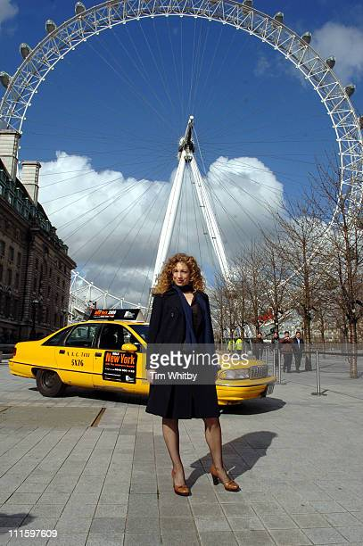 Alex Kingston during The Children's Society New York Taxi Cab Regional Tour in London April 10 2006 at London Eye in London Great Britain