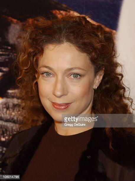 Alex Kingston during 'The Lord Of The Rings The Two Towers' Los Angeles Premiere Arrivals at Cinerama Dome Theatre in Hollywood California United...