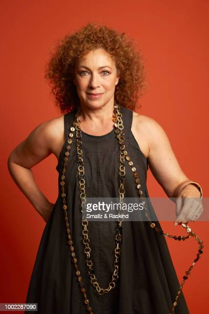 Alex Kingston from Sky One's 'A Discovery of Witches' poses for a portrait in the Getty Images Portrait Studio powered by Pizza Hut at San Diego 2018...