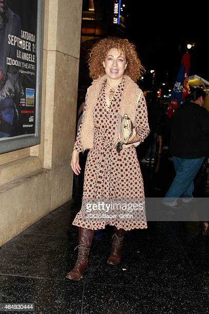 Alex Kingston is seen in Hollywood on March 01 2015 in Los Angeles California
