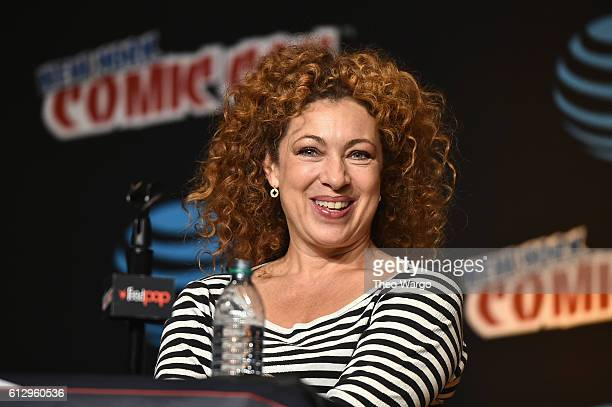 Alex Kingston speaks at the Tales from the TARDIS panel at Jacob Javits Center on October 6 2016 in New York City
