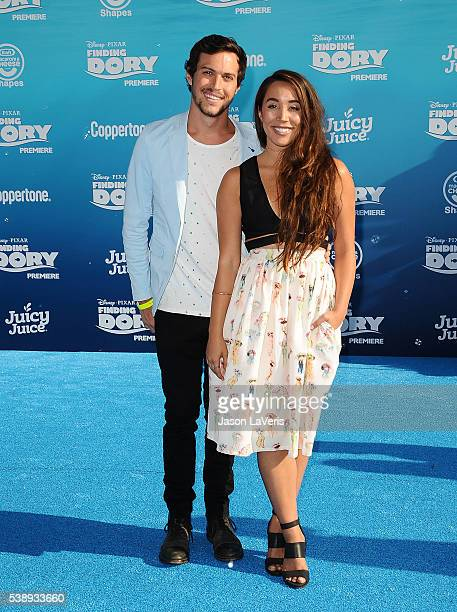 Alex Kinsey and Sierra Deaton of Alex Sierra attend the premiere of 'Finding Dory' at the El Capitan Theatre on June 8 2016 in Hollywood California