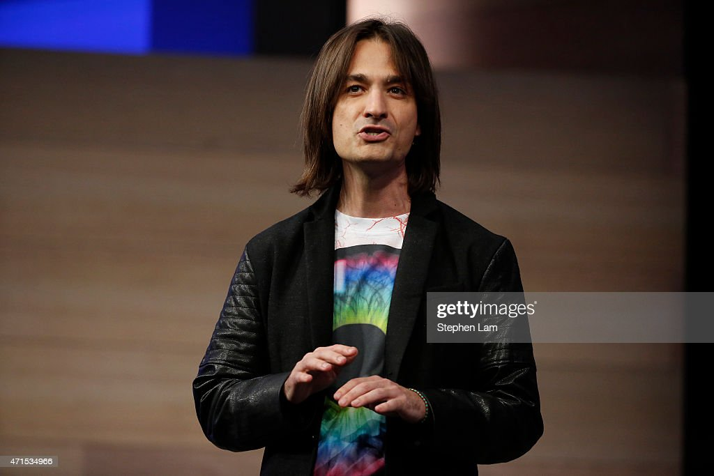 Alex Kipman, technical fellow, operating system group at Microsoft, speaks on stage during the 2015 Microsoft Build Conference on April 29, 2015 at Moscone Center in San Francisco, California. Thousands are expected to attend the annual developer conference which runs through May 1.