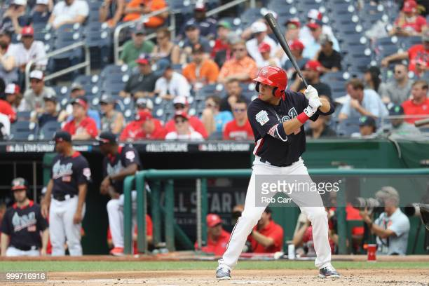 Alex Kirilloff of the Minnesota Twins and the US Team bats in the second inning against the World Team during the SiriusXM AllStar Futures Game at...