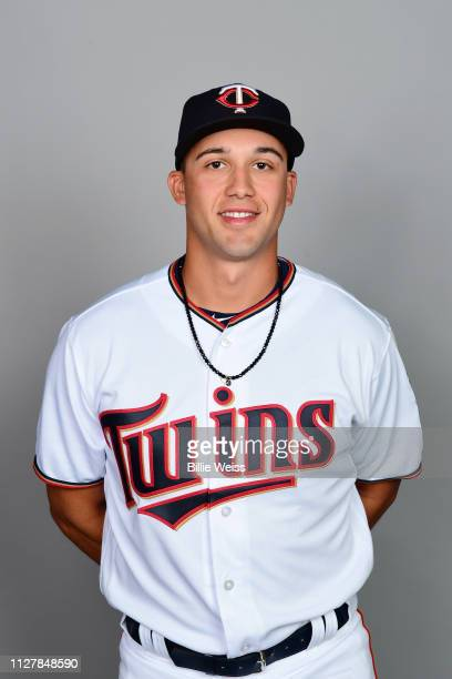 Alex Kirilloff of the Minnesota Twins poses during Photo Day on Friday February 22 2019 at CenturyLink Sports Complex in Fort Myers Florida