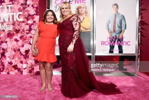 "Alex Kis and Rebel Wilson attend the premiere of Warner Bros. Pictures' ""Isn't It Romantic"" at The Theatre at Ace Hotel on February 11, 2019 in Los..."