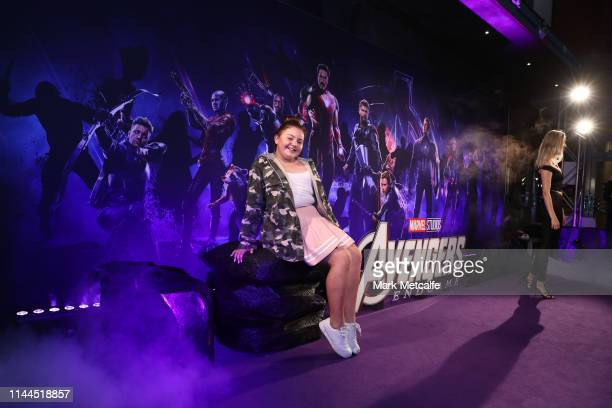 Alex Kis attends the Sydney screening of Avengers End Game at Hoyts Entertainment Quarter on April 23 2019 in Sydney Australia