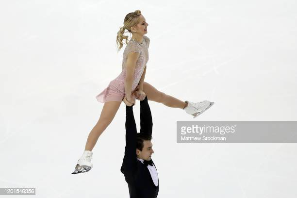 Alex Knierim and Christopher Knierim skate in the Pairs Short Program during the 2020 U.S. Figure Skating Championships at Greensboro Coliseum on...