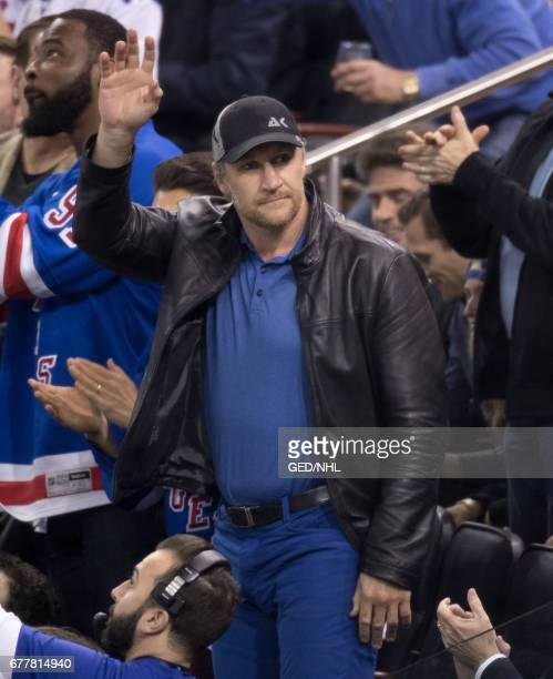 Alex Kovalev attend Ottawa Senators Vs New York Rangers 2017 Playoffs Game 3 at Madison Square Garden on May 2 2017 in New York City
